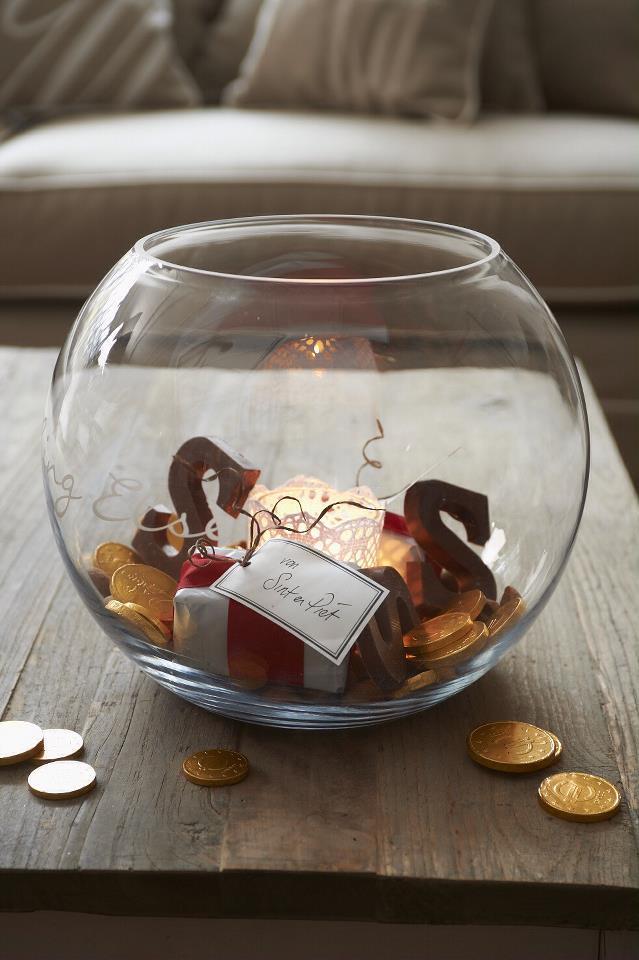 Sinterklaas sfeer in glas